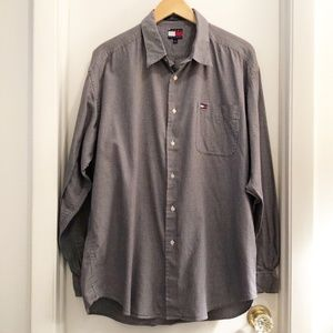 Tommy Hilfiger Houndstooth Long Sleeve Shirt XL